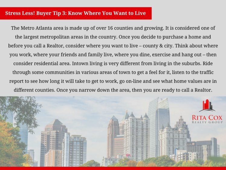 POSTED Stress_less_buyer_tip_3_rita_cox_realty_group_keller_williams_real_estate