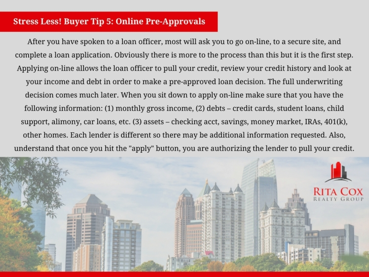 POSTED Stress_less_buyer_tip_5_rita_cox_realty_group_keller_williams_real_estate