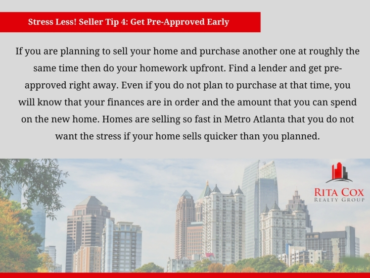 POSTED Stress_less_seller_tip_4_rita_cox_realty_group_keller_williams