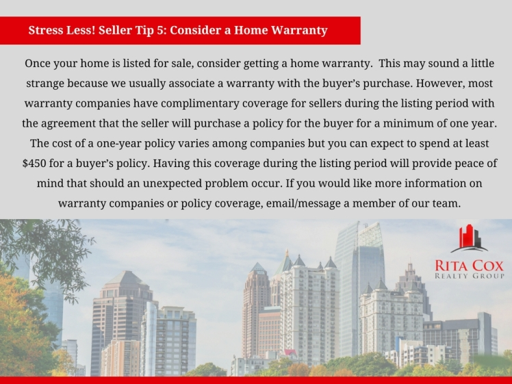 POSTED Stress_less_seller_tip_5_rita_cox_realty_group_keller_williams