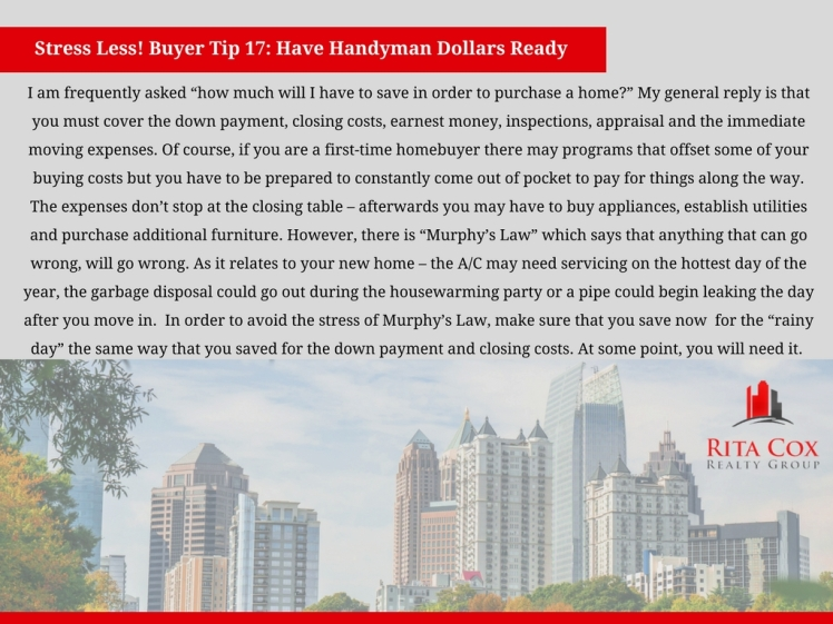 Stress_less_buyer_tip_17_rita_cox_realty_group_keller_williams_real_estate